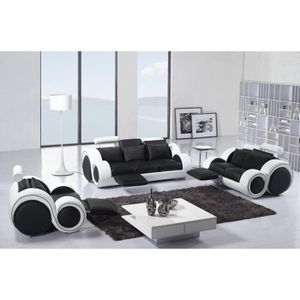 canape cuir design achat vente canape cuir design pas cher cdiscount. Black Bedroom Furniture Sets. Home Design Ideas