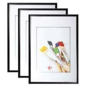 CADRE PHOTO Lot de 2 cadres photo - Noir - 40 x 60 cm
