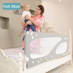 BARRIÈRE DE LIT BÉBÉ Hot Mom Barrière de Lit Enfant Lavable 150 cm, Col