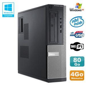 UNITÉ CENTRALE  PC DELL Optiplex 3010 DT Intel G2020 2.9Ghz 4Go 80