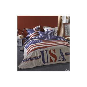 housse de couette usa 200x200 achat vente housse de couette usa 200x200 pas cher cdiscount. Black Bedroom Furniture Sets. Home Design Ideas