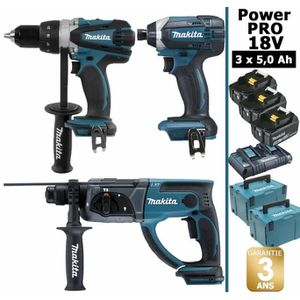 PERCEUSE Pack Power PRO 18V: Perceuse 91Nm DDF458 + Perfo 2