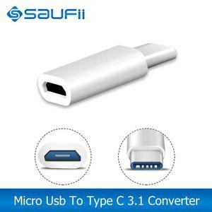 CÂBLE TÉLÉPHONE SAUFII USB Type C 3.1 vers Micro USB adaptateur de