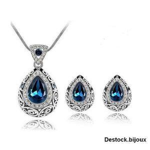 PARURE Parure Bijoux Duchesse Goutte Cristal Swarovski* B
