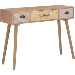 CONSOLE EXTENSIBLE vidaXL Table console avec 3 tiroirs 100 x 30 x 73