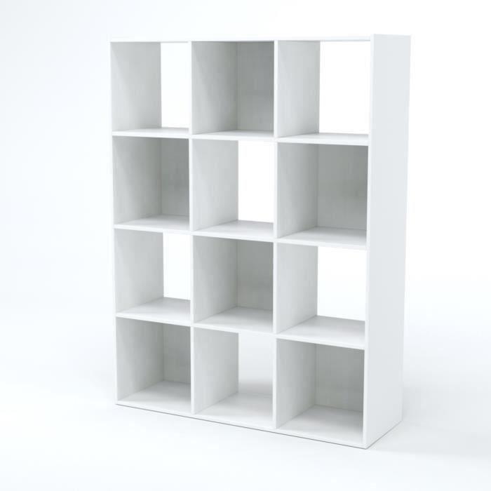 Compo Meuble De Rangement Contemporain Blanc Mat L 92 Cm Achat Vente Petit Meuble Rangement Compo Cube 12 Cases Blanc Cdiscount