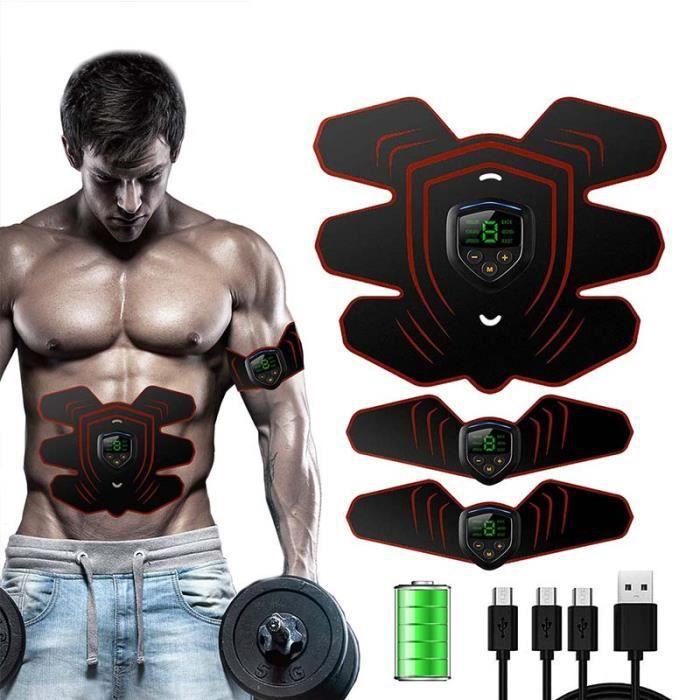 Appareil Abdominal, Electrostimulateur Musculaire ABS Trainer EMS Smart Ceinture USB de Charger Abdominal Gym Fitness