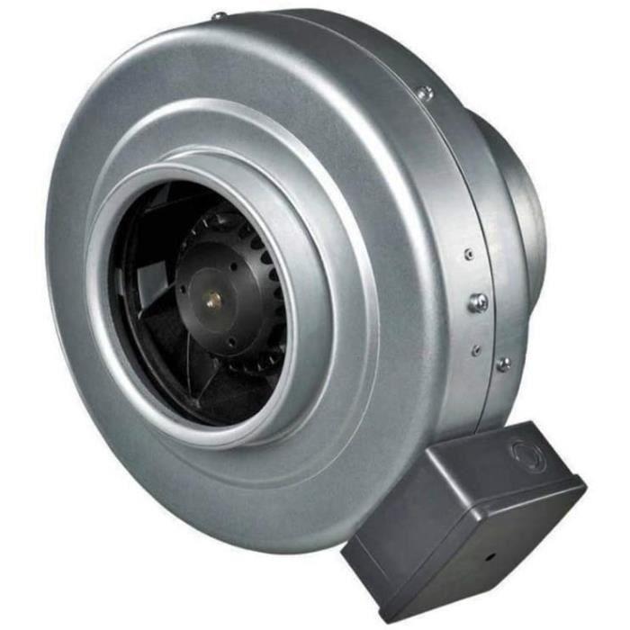Ventilateur d'extraction de conduit en ligne Ventilateur d'extraction industriel centrifuge robuste (160 mm)