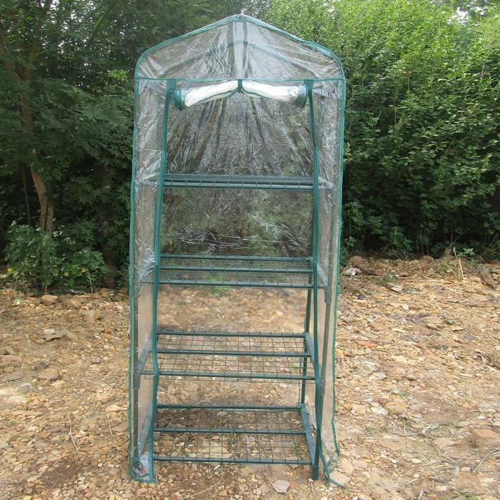 Serre de jardin balcon terrasse serre PVC imperméable transparent(N'inclut pas le cadre en fer ) HB040 -SHO