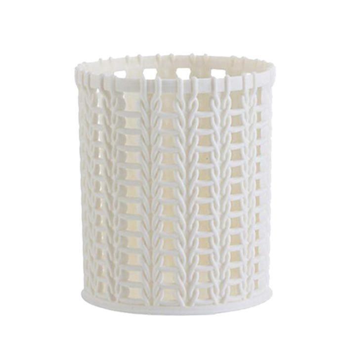 Panier compact en plastique pour porte-stylo organisateur de bureau de bureau de salle de bains de cuisine Fournitures de bureau