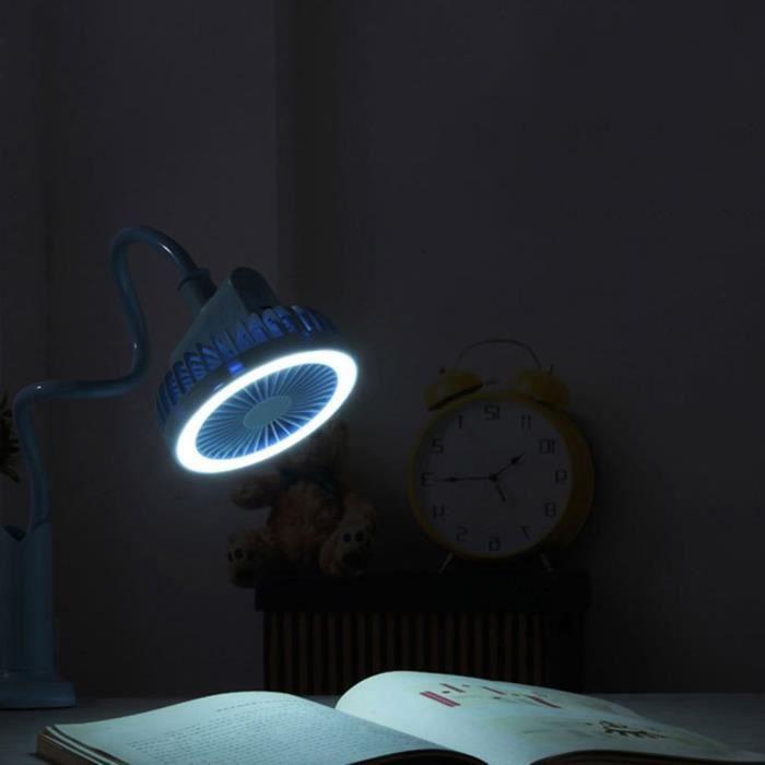 Personnalité créative Mini Usb pince de charge lampe de Table de douche petit ventilateur étudiant ven - Modèle: Bleu - HJXFSB03655