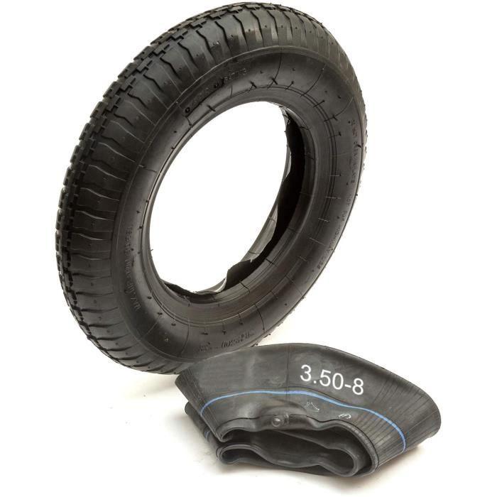 PetrolScooter 35.6cm Pneu & Intérieur Tube Kit 3.50-8 350-8 2 Plis Caoutchouc Brouette