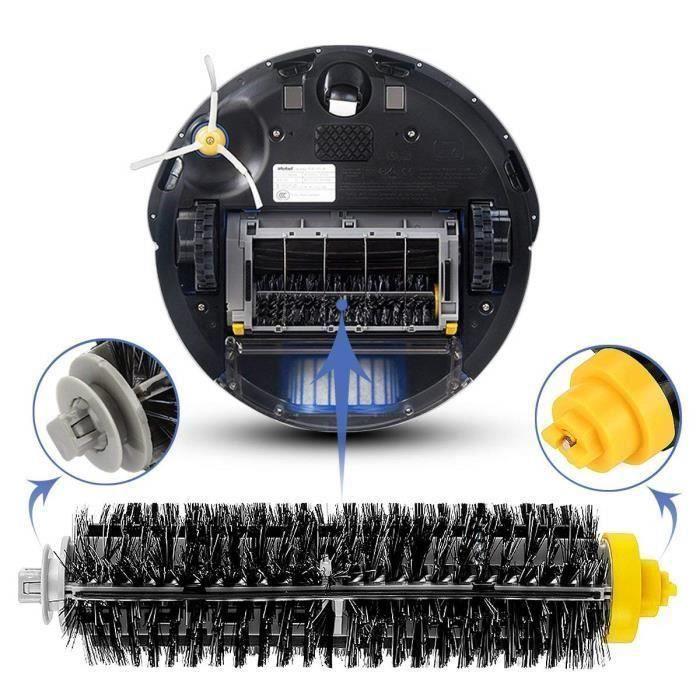 Kit de Brosse de Remplacement Kit de Shaintenance Pour Kit de Nettoyage Série 600 Roomba Filtre À Brosse Sh07385
