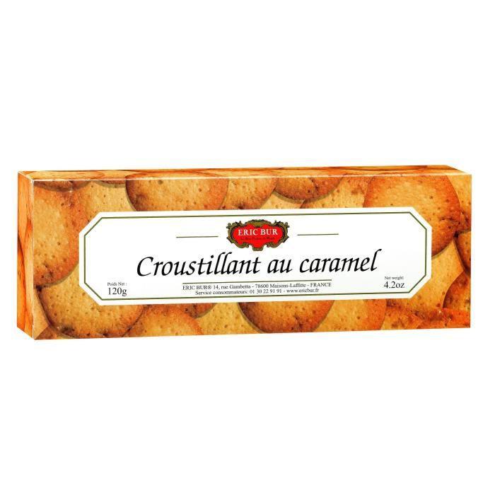 ERIC BUR Biscuit Sucré Croustillant au Caramel - 120 g