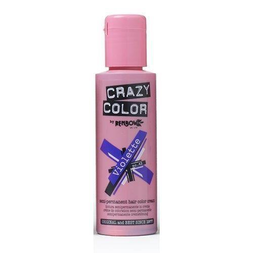 Crazy Color Semi Permanent Hair Color Cream Violette No43 338 Fl Oz 4 Count