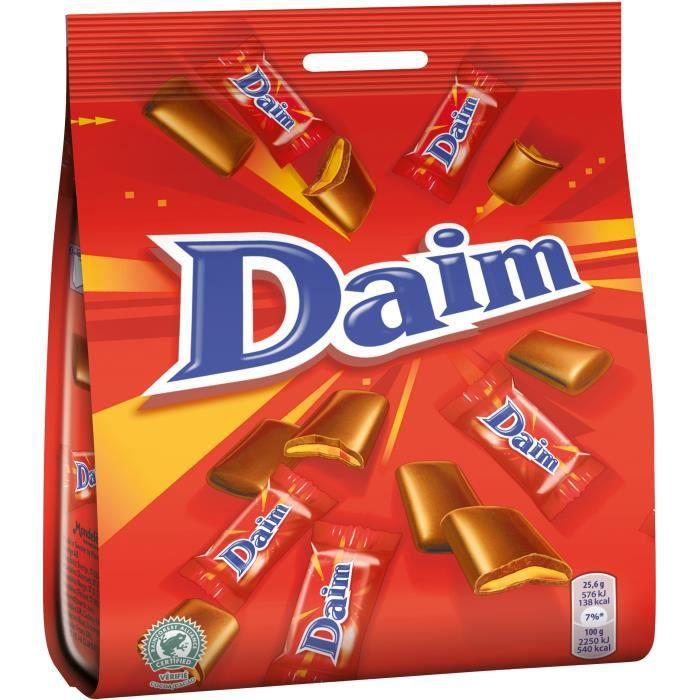 DAIM Chocolat au lait fourré au caramel croquant - 200 g