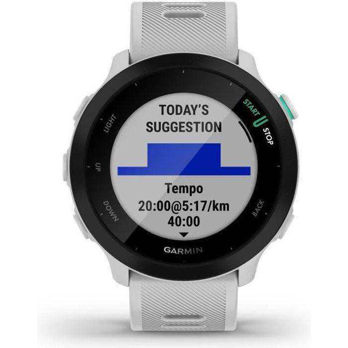 GARMIN Forerunner 55 - Montre connectée GPS - Blanc