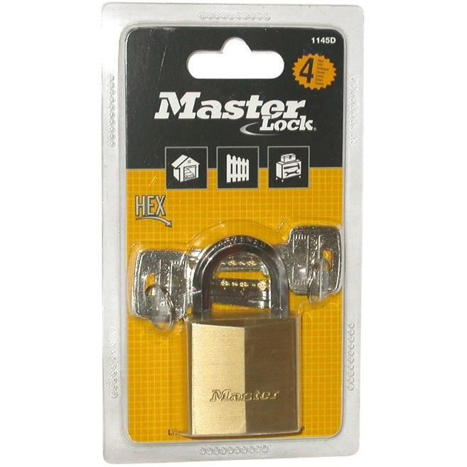 MASTER LOCK Cadenas laiton - 50 mm - anse hexagonale