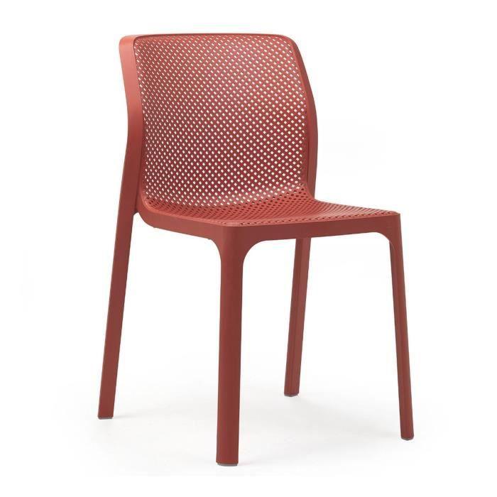 Chaise de jardin moderne et confort Bit NARDI Rouge Corail