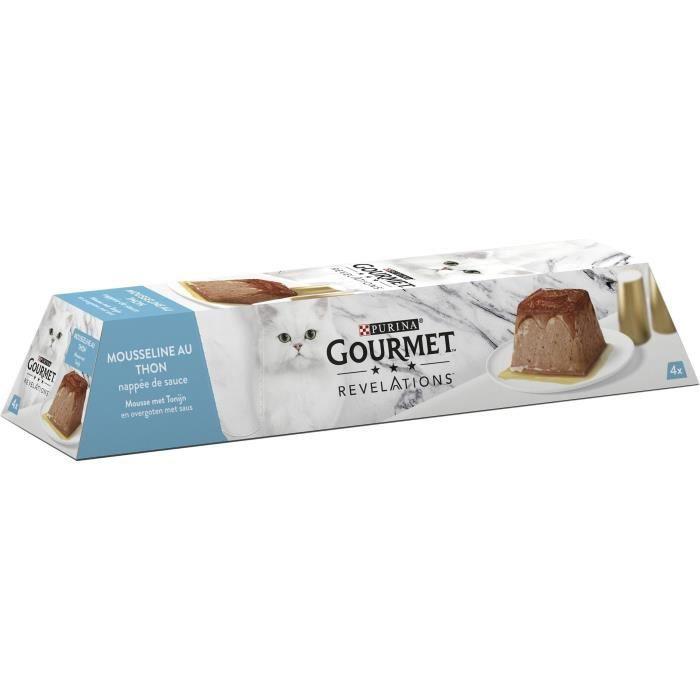 PURINA GOURMET™ REVELATIONS™ Mousseline au Thon nappée de sauce - 4 x 57 g