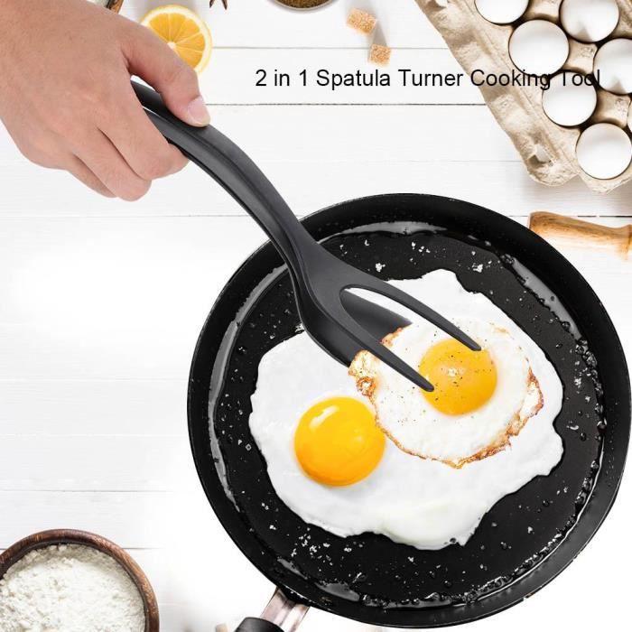 Spatule 2 en 1 pour faire des oeufs, des crêpes---DQ FRANCE