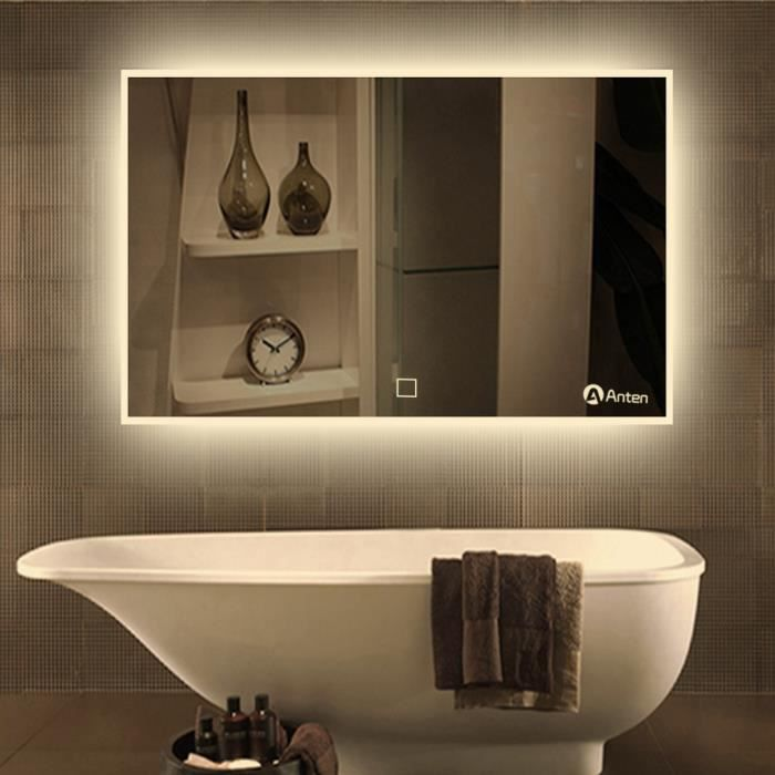 anten 19w miroir led lampe de miroir clairage salle de bain mural miroir lumineux design. Black Bedroom Furniture Sets. Home Design Ideas