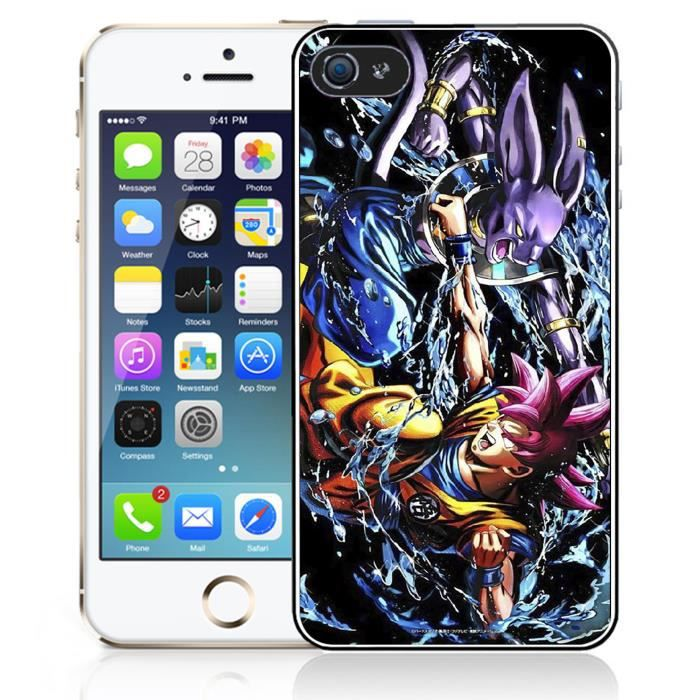 coque iphone 5 5s se dragon ball super goku vs beerus. Black Bedroom Furniture Sets. Home Design Ideas