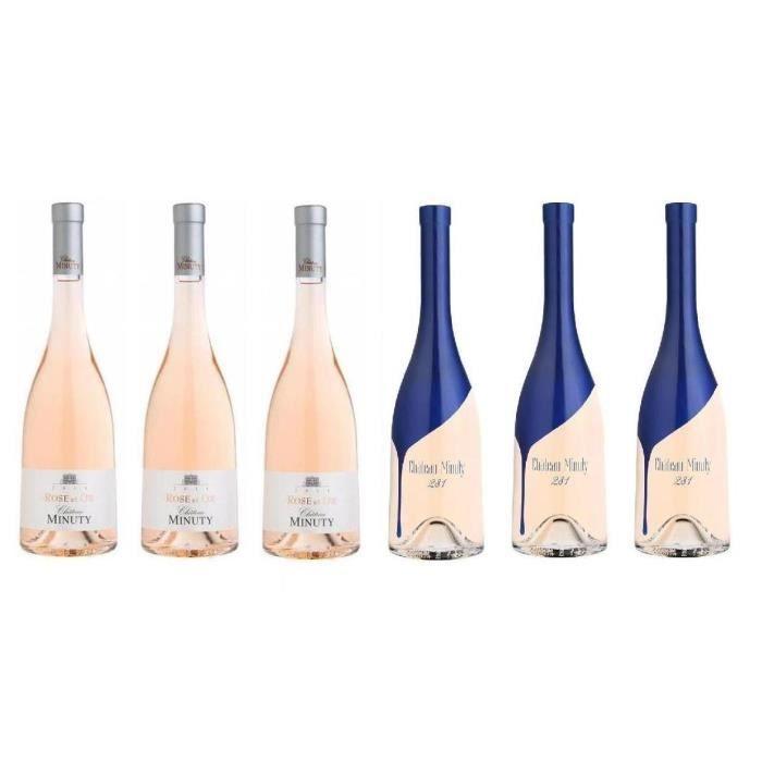 VIN ROSÉ Lot Découverte 6 Château Minuty Rosé AOP Côtes de