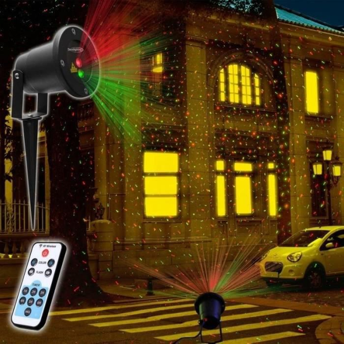 Laser led lumi res no l lumi res maison d coration for Projecteur exterieur noel