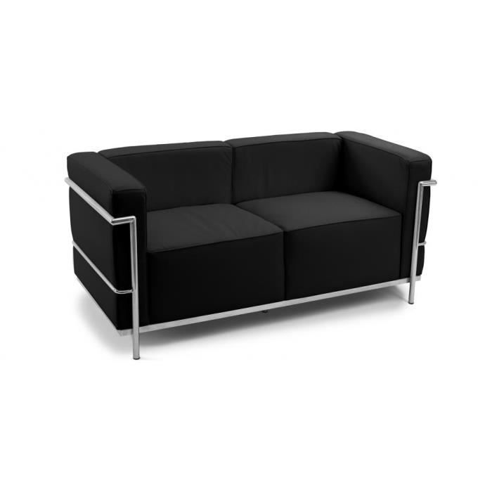 canap design lc3 2 places inspir charles le co achat. Black Bedroom Furniture Sets. Home Design Ideas