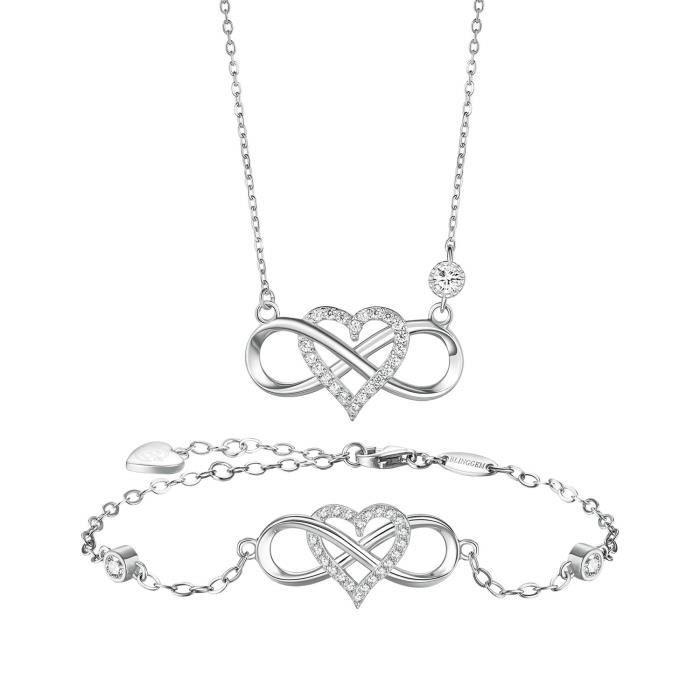 Simple Bijoux Tendance Forme Ronde Oxyde de Zirconium Collier