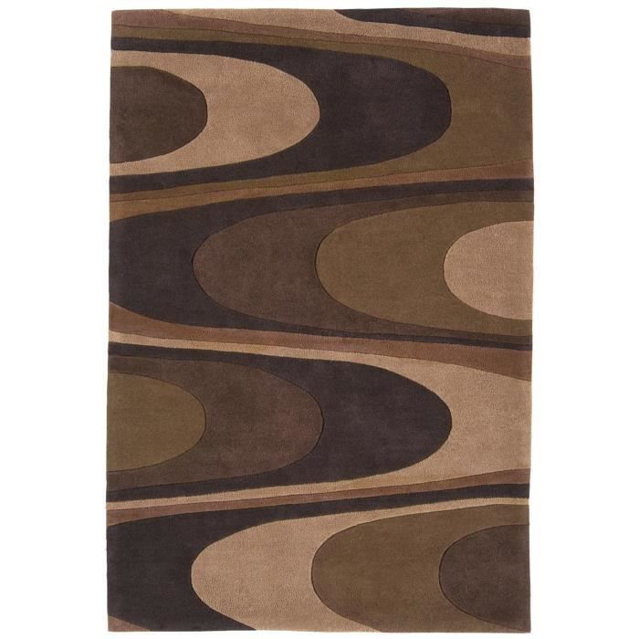 benuta tapis harlequin warp marron 60x120 cm achat vente tapis cdiscount. Black Bedroom Furniture Sets. Home Design Ideas
