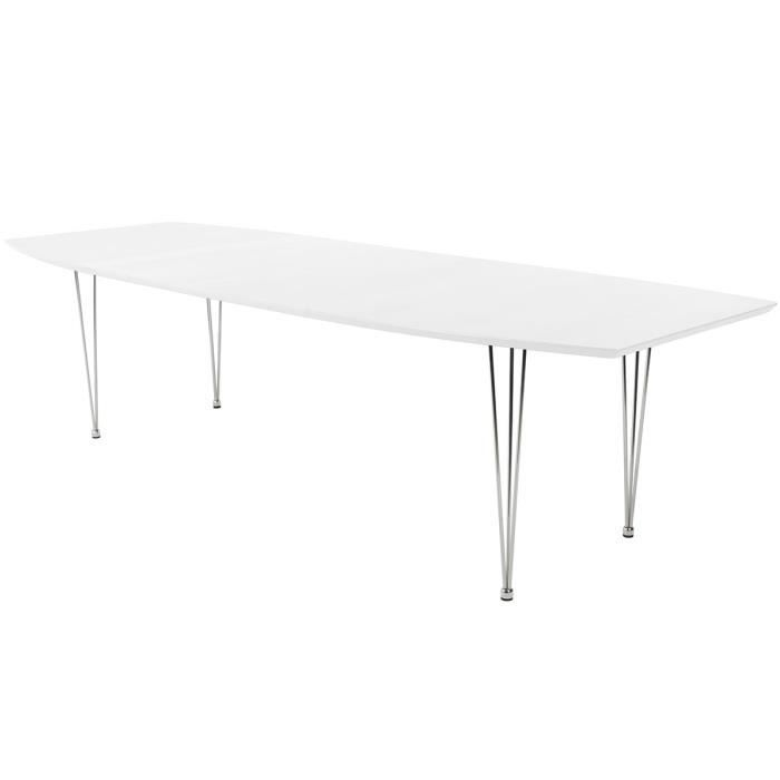Table manger extensible 270 cm blanc wilson achat for Table extensible 270