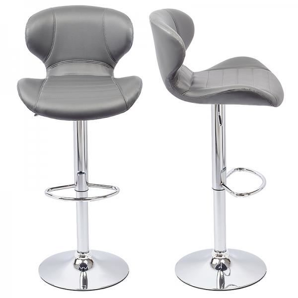 tabouret de bar gris lot de 2 lead achat vente tabouret de bar gris cdiscount. Black Bedroom Furniture Sets. Home Design Ideas