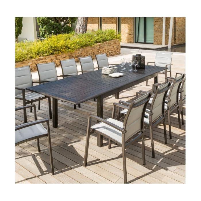 TABLE EXT. AZUA HESPERIDE 12 PERSONNES EFFET BOIS - Achat ...