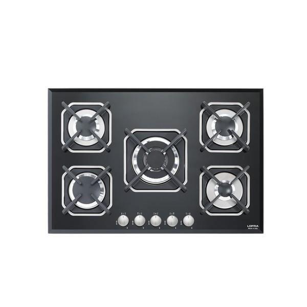 PLAQUE GAZ LOFRA HGN7E0 Sirio 75 noir table de cuisson  valve