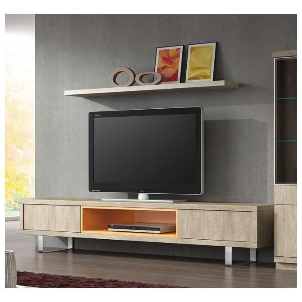 ensemble meuble tv et 1 tag re bilbao coloris achat vente meuble tv ensemble meuble tv et. Black Bedroom Furniture Sets. Home Design Ideas