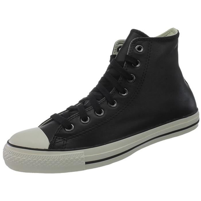 Achat Hi All Chaussures Converse Noir Star Leather Vente EH2D9I