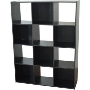 PETIT MEUBLE RANGEMENT  COMPO Meuble de rangement contemporain noir mat -