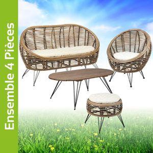 Table naturelle osier chaise fibre Paille jardin de et TOPZuwkXi
