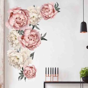 Papier peint mural photo facile installer polaire vintage fleurs pivoine Bouquet Art