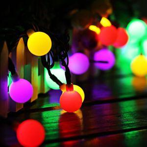 DÉCORATION LUMINEUSE Guirlande Lumineuse Solaire 60 Petites Boule LED É