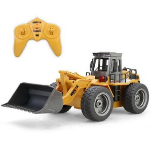 TRACTEUR - CHANTIER 2.4G Bulldozer Jouet Véhicule de Construction Cami