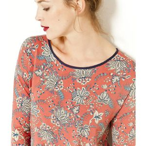 T-SHIRT Camaïeu - T-shirt femme noeud au dos - CRANBERRY -