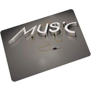 PAILLASSON @M4385 Tissu Home Paillasson Musique Zélote Série