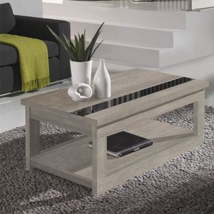 TABLE BASSE Table basse relevable Chêne clair - UPTI - L 110 x