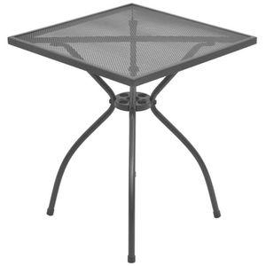 TABLE DE JARDIN  vidaXL Table de bistro d'extérieur Acier Treillis