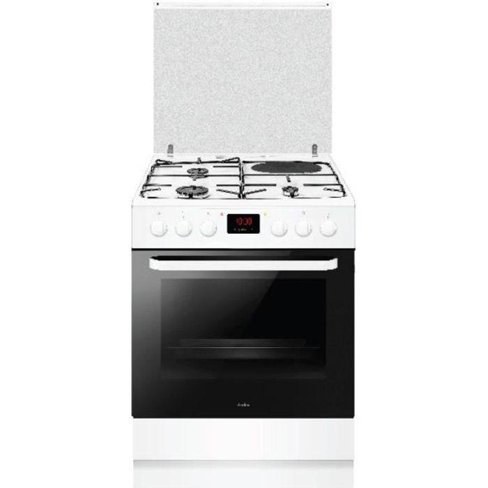 amica - cuisinière mixte a 65l 4 feux blanc - acm3506b
