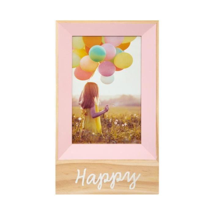Atmosphera - Cadre Photo à poser 10 x 15 cm avec base en bois Rose
