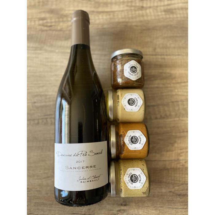 Coffret apéritif 1 bouteille de Sancerre 2017 & 4 tartinades sallées